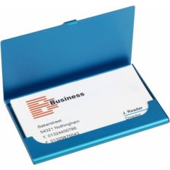 Etui - škatlica za vizitke iz aluminija, modra 8766-18