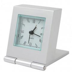 Kovinska namizna ura 510W 88220, srebrna