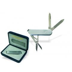 3 delni zložljiv švicarski nož Metal 89017, srebrna