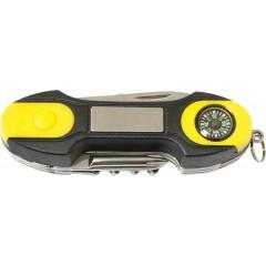 8 delni zložljiv nož s kompasom Compas 89060, črna