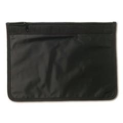 Enostavna torbica za dokumente z zadrgo A4, črna 9100-01