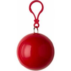 Pončo - palerina za dež v okroglem obesku, rdeča 9137-08