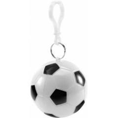 Dežni pončo - palerina v okroglem obesku Nogometna žoga, bela 9139-02