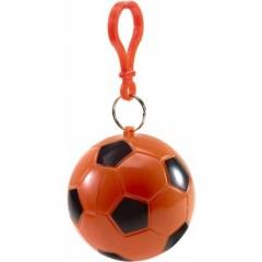 Dežni pončo - palerina v okroglem obesku Nogometna žoga, rdeča 9139-07