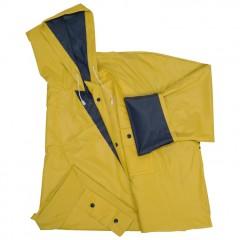 Dežni plašč s kapuco in žepi - obojestranski Nanterre, rumena/modra 920548