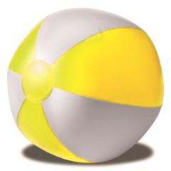 Napihljiva plažna žoga, rumena-bela 9620-06