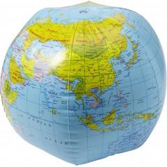 Napihljiv globus - žoga za na plažo 26cm, multicolor 9648-09