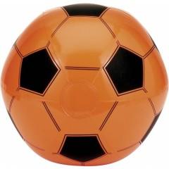 Napihljiva plažna žoga Nogomet, oranžna-črna 9655-07