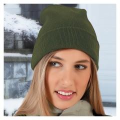 Zimska pletena kapa WINTER - bela, rdeča, črna, modra, temno modra, temno zelena, siva, večbarvno GRVAWIN