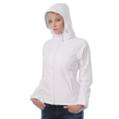 Ženski softshell s kapuco B&C Hooded Softshell /women JW937
