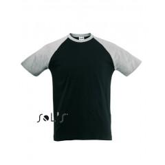 Moška majica Sol's MEN'S 2-COLOUR RAGLAN SLEEVE T-SHIRT • 100% bombaž SOL'S FUNKY-11190