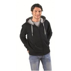 Moški pulover s kapuco - CONTRASTED MEN ZIPPED JACKET WITH LINING HOOD • 50% bombaž - 50 % poliester SOL'S SOUL-MEN-46900