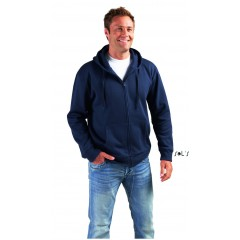MEN ZIPPED JACKET WITH LINED HOOD • 50% bombaž - 50 % poliester SOL'S SEVEN-MEN-47800