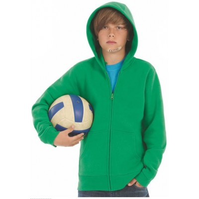 Otroški pulover s kapuco B&C Hooded Full Zip /kids WK682