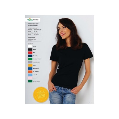 Ženska T-majica Keya 180g, česan bombaž WCS180